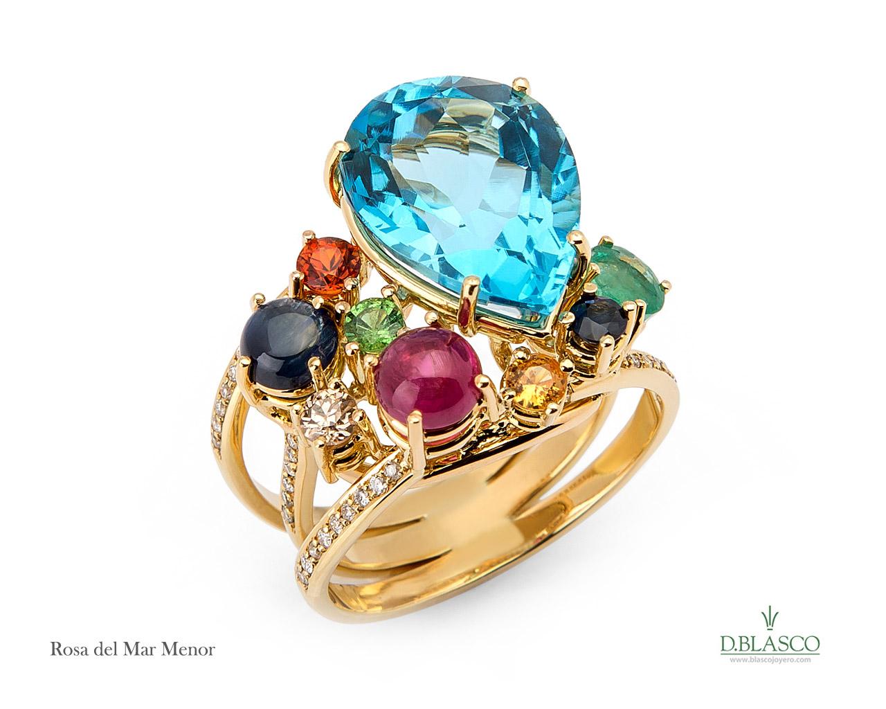 Rosa del Mar menor anillo