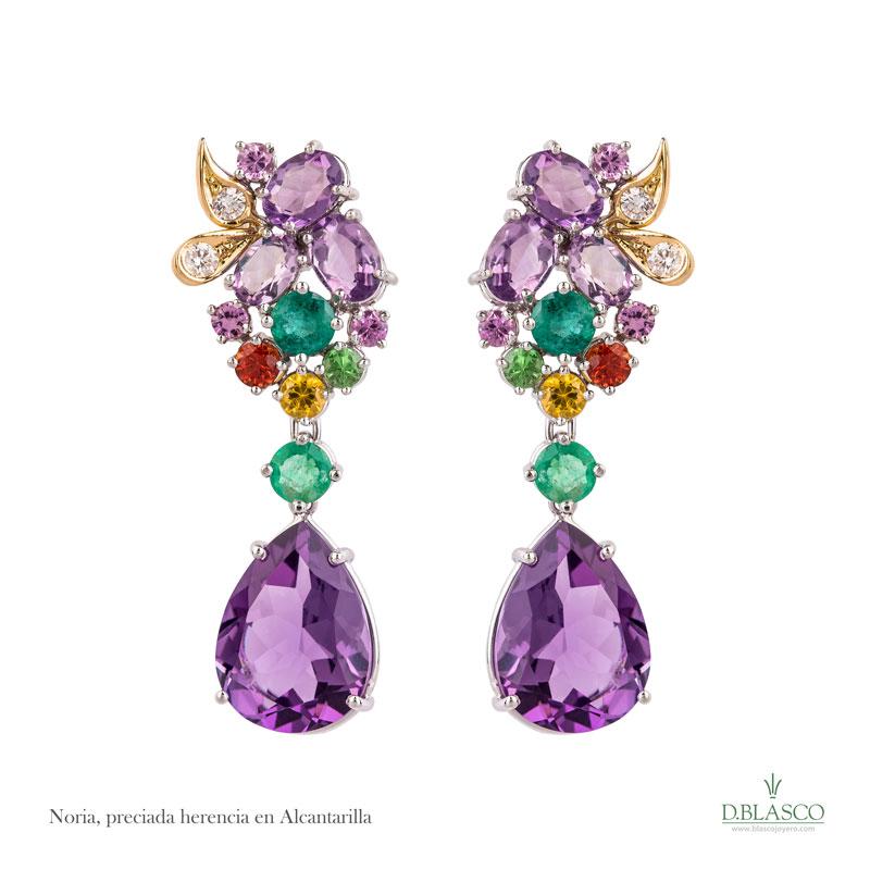 Pendientes coleccion Alcantarilla Blasco Joyero, joyas de la region de Murcia