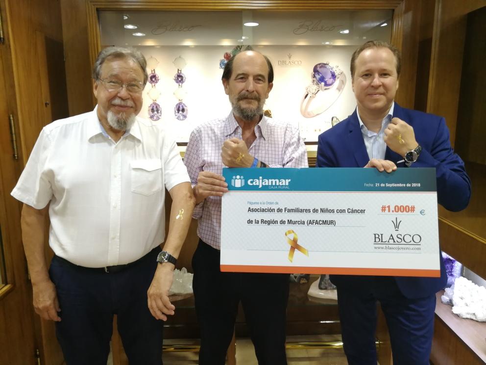 Blasco Joyero Murcia colaboración niños con cancer Afacmur